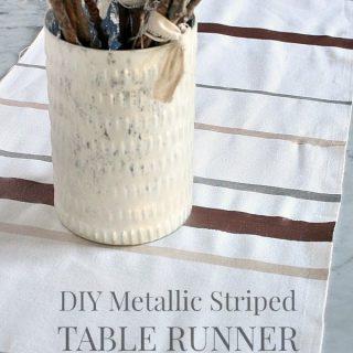 DIY Holiday Table Runner