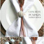 Concrete Pumpkin Napkin Rings
