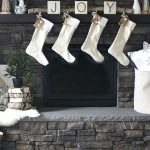 Winter White Christmas Mantel