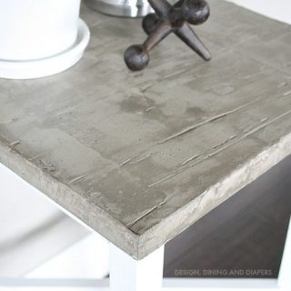 Side Table Makeover With Concrete Top