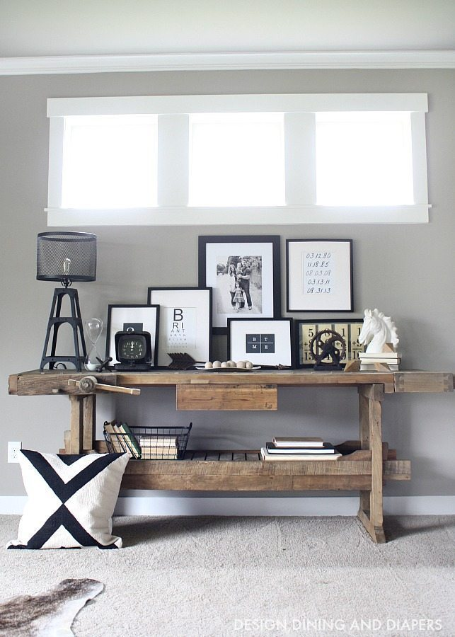 storage reclaimed console rustic table custom ideas with made from industrial diy wood furniture simple