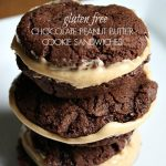 Gluten Free Chocolate Peanut Butter Cookie Sandwiches