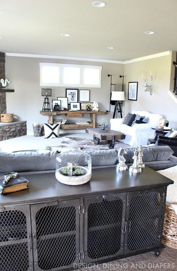 Rustic Modern Family Room Reveal - Taryn Whiteaker