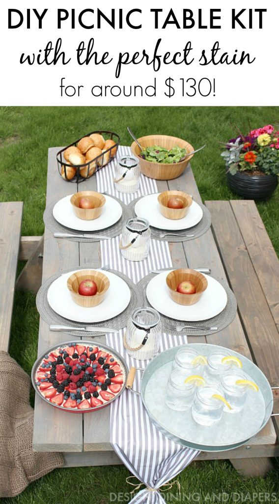 DIY Picnic Table Kit - Taryn Whiteaker