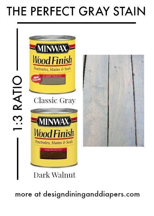 Finding the perfect gray stain! This is a great mixture for finding a warm gray color.