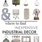 Shopping Guide: Inexpensive Industrial Decor
