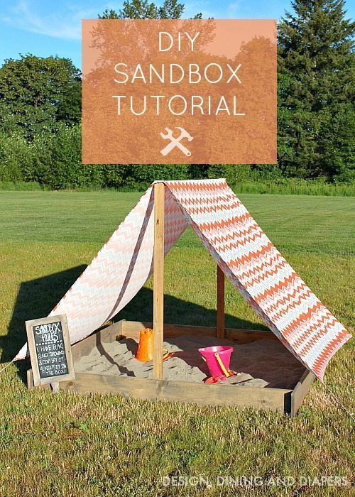 Learn how to build this easy Sandbox With Cover ! This is a great DIY Summer project for the kiddos.