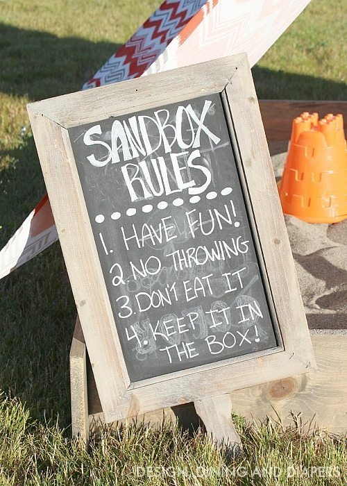 Sandbox Rules Sign ! Let the kids have fun but know the rules.