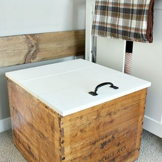 DIY Toy Chest With Lid From Vintage Shipping Crate