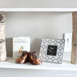 DIY Birch Shelves
