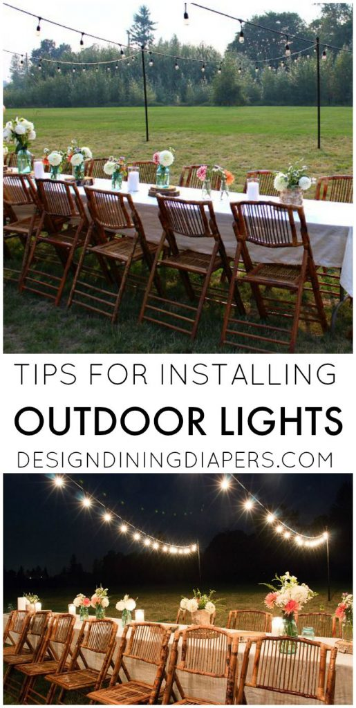 How to Hang String Lights in backyard! Create this magical look for your next summer party and learn from my mistakes!