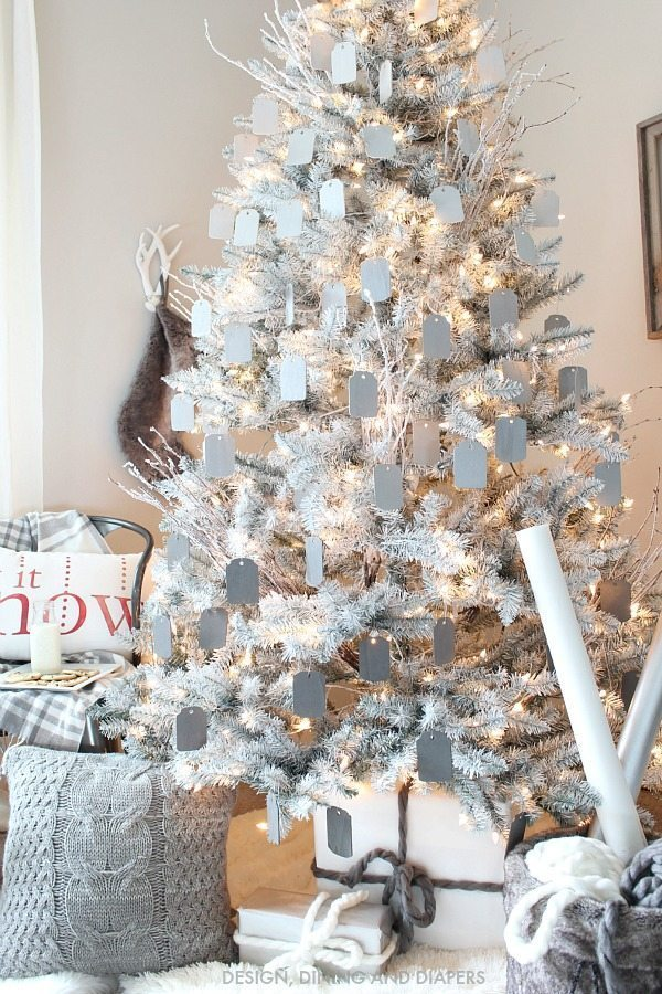 If you are looking for an easy an inexpensive way to decorate a tree this  look would be a great option. Each tag cost $.29 and I only used about 75  of ...