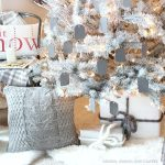 Gray and White Christmas Tree