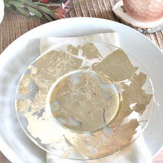 DIY Gold Leafed Plates