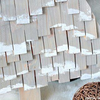 DIY Wood Shim Trees