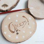 DIY Gift Idea – Personalized Wood Burned Coasters