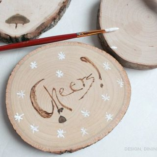 DIY Gift Idea – Personalized Wood Burned Coasters
