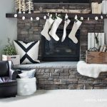 Nordic Christmas Mantel and DIY Garland