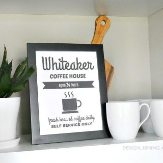 Personalized Coffee Printable