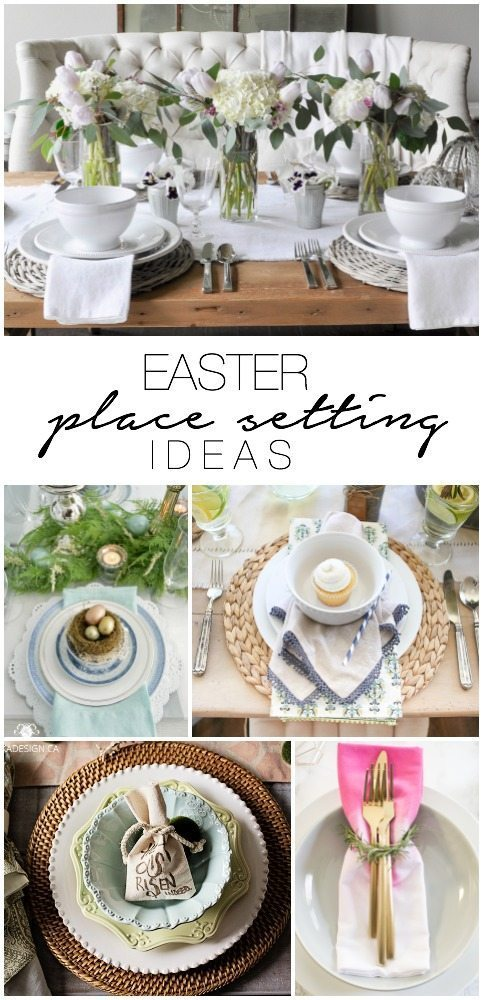Easter Place Setting Ideas - tons of ideas for your easter table!