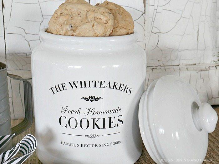 gift idea personalized cookie jar taryn whiteaker