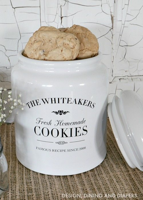 Gift Idea Personalized Cookie Jar