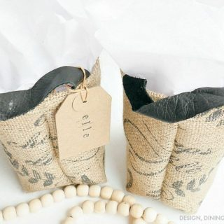Gift Idea: DIY Grain Sack Gift Bags