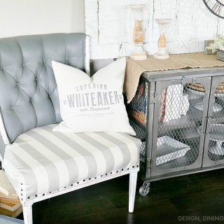 Trash To Treasure: Painting Upholstery