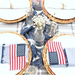 Patriotic Table Decorations on a Budget