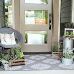 Summer Porch With Fresh Greens