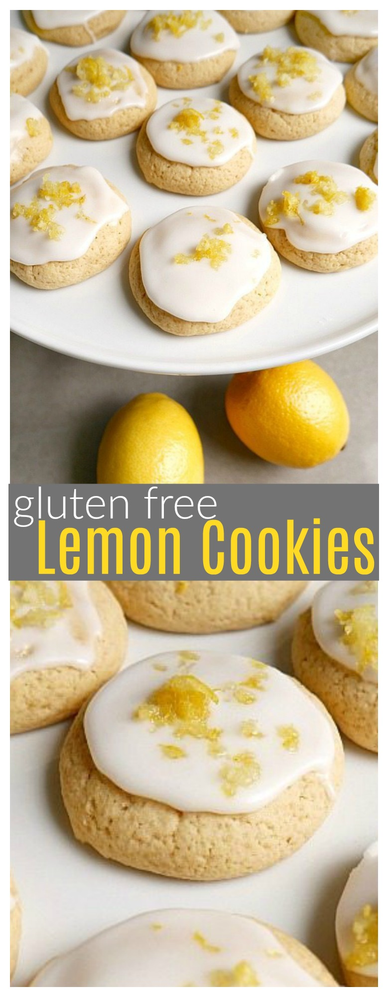 These GF lemon cookies with fresh lemon frosting are absolutely declines! They are a fresh and light dessert for summer.