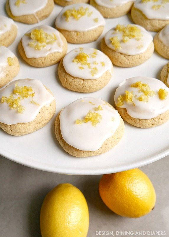 Gluten Free Lemon Cookies with light lemon frosting!