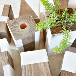 DIY Hanging Wood Planters