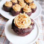 Easy Gluten Free Chocolate Peanut Butter Filled Cupcakes