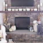 Rustic and Metallic Fall Mantel