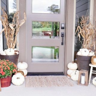 Rustic Metallic Fall Porch