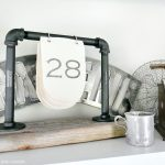DIY Industrial Desk Calendar
