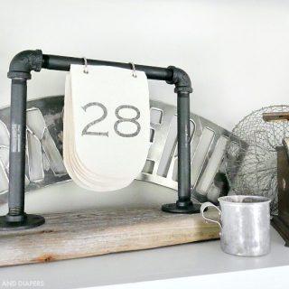 DIY Industrial Desk Calendar