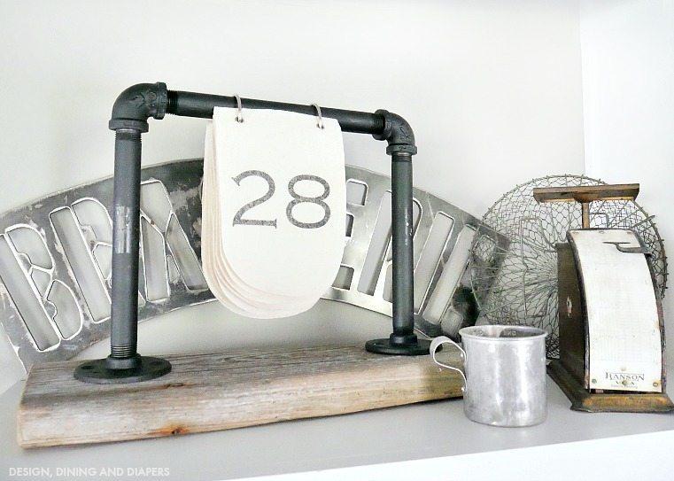 Diy Industrial Desk Calendar Taryn Whiteaker