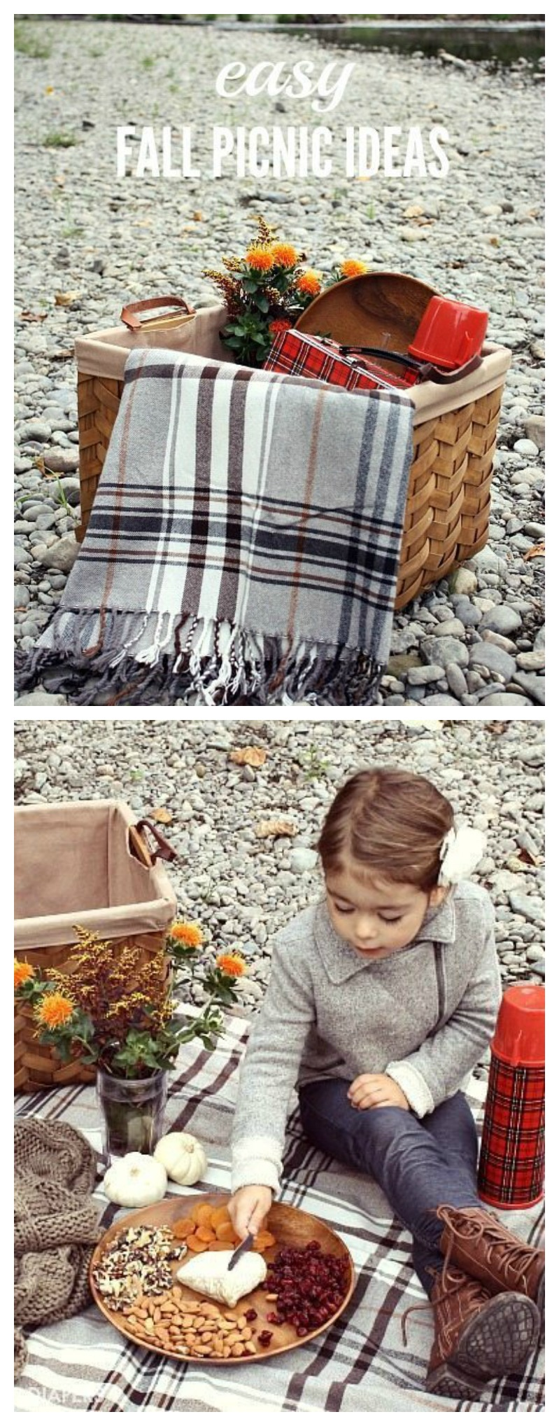 Love these easy fall picnic ideas! It doesn't take much to put together a picnic for your family or special date.