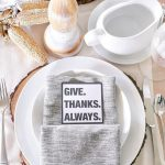 Neutral Thanksgiving Place Setting + Free Printable