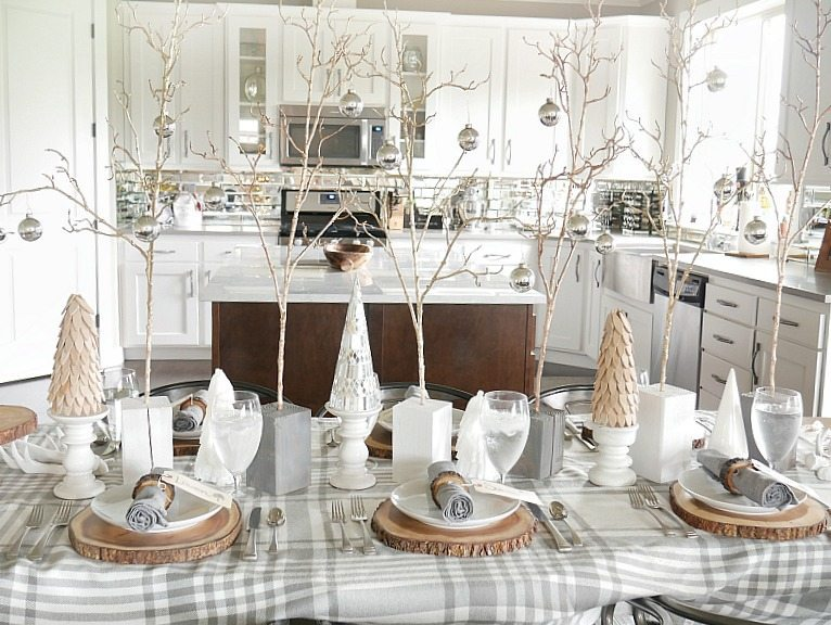Cozy and Elegant Winter Table Setting - Taryn Whiteaker