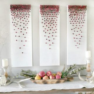 DIY Cranberry Decor