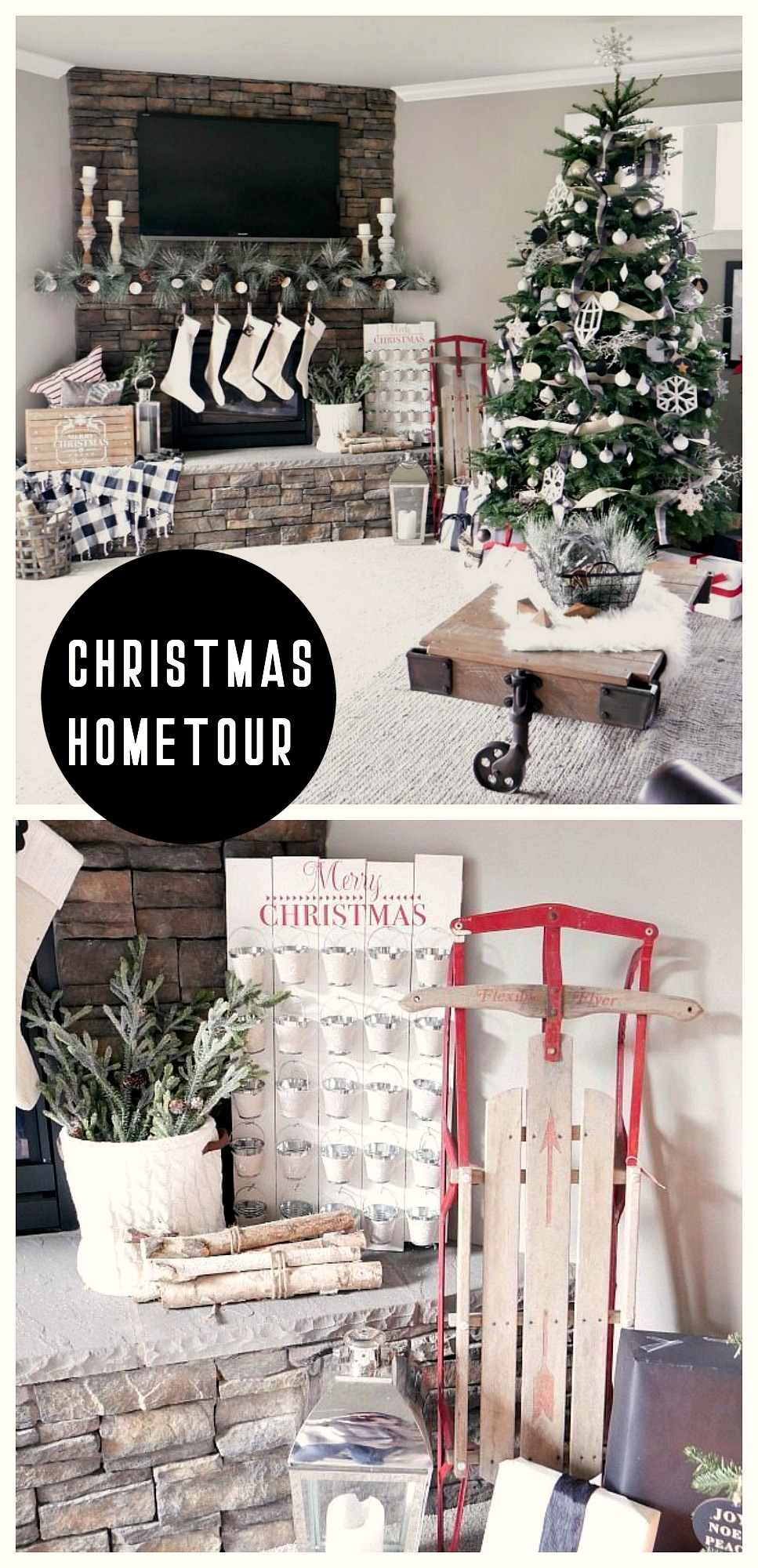 Rustic Christmas Living Room Decorations
