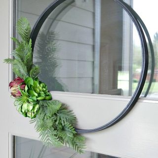 Modern Embroidery Hoop Wreath