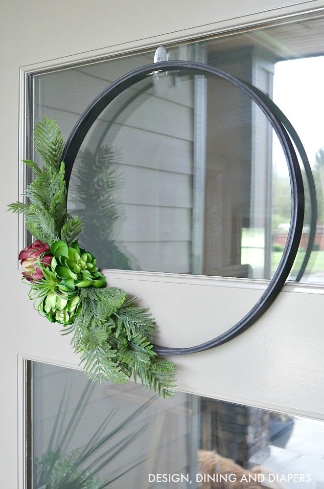 Modern Embroidery Hoop Wreath Taryn Whiteaker