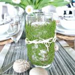 Moss Wrapped Candles For Easter