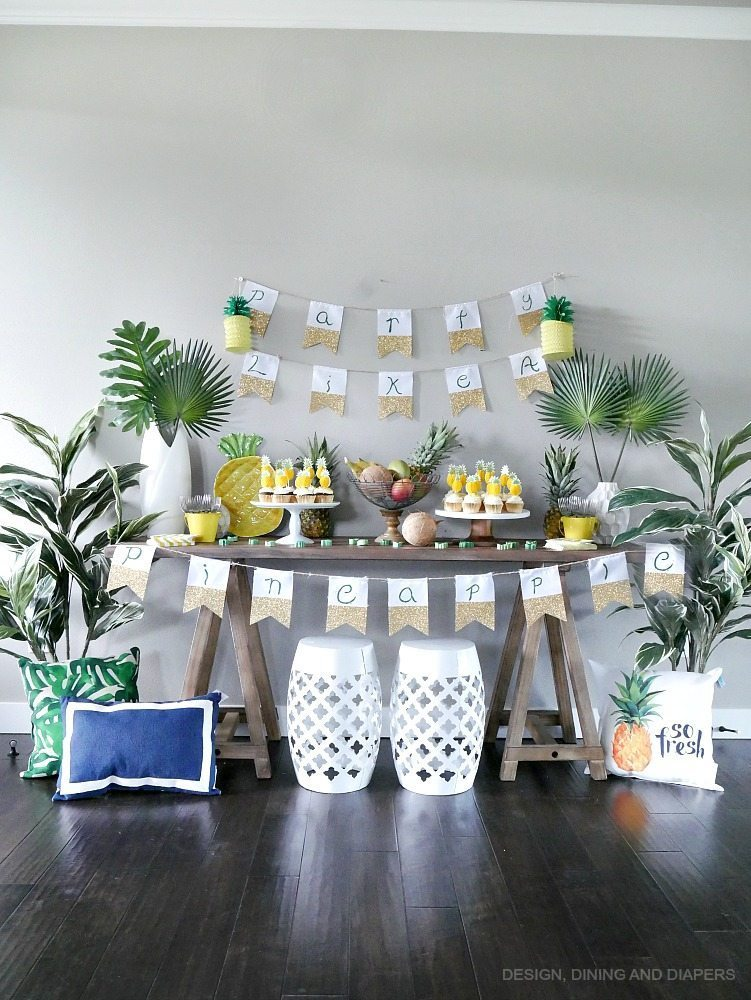 Pineapple party ideas taryn whiteaker for Diy room decor ideas you never thought of