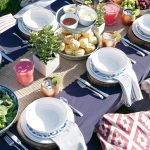 Backyard Table Setting + Summer Entertaining Tips