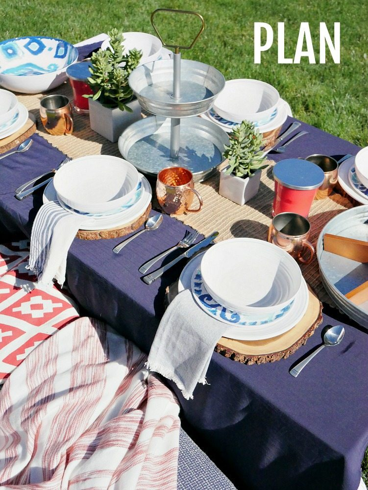 Summer Entertaining Tips - plan your table ahead of time!
